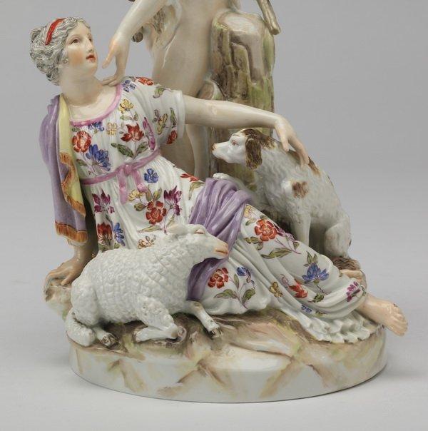 19th c Continental porcelain figurine, Paris & Helena - 3