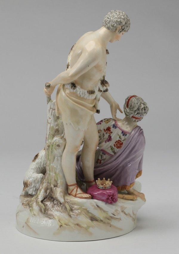 19th c Continental porcelain figurine, Paris & Helena - 4