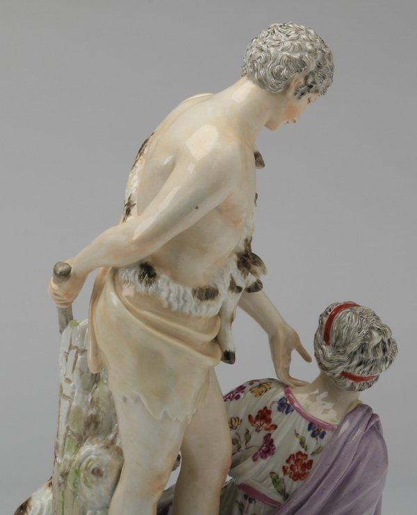 19th c Continental porcelain figurine, Paris & Helena - 5