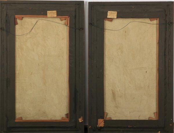 """(2) 19th c. Continental capriccio scenes, 40""""h - 6"""