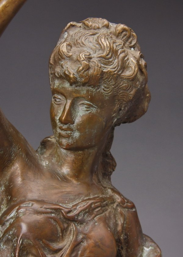"Early 20th c. bronze figural sculpture, 22""h - 2"