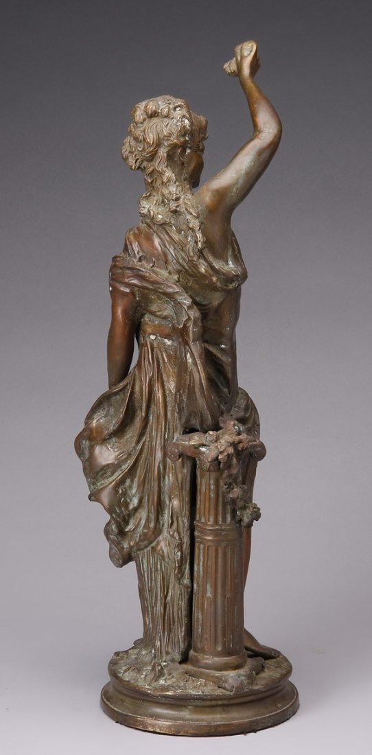 "Early 20th c. bronze figural sculpture, 22""h - 3"