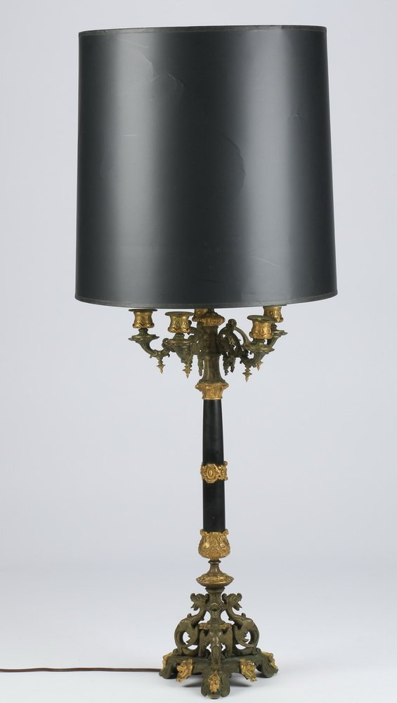 "Rococo Revival style table lamp, 39""h"