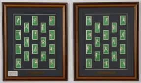 Framed collection British cigarette cards