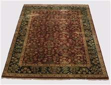 Hand knotted Indo-Persian wool rug 14 x 10