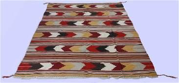 Navajo style hand woven wool area rug, 6 x 11