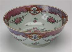 Continental hand painted porcelain bowl 13w