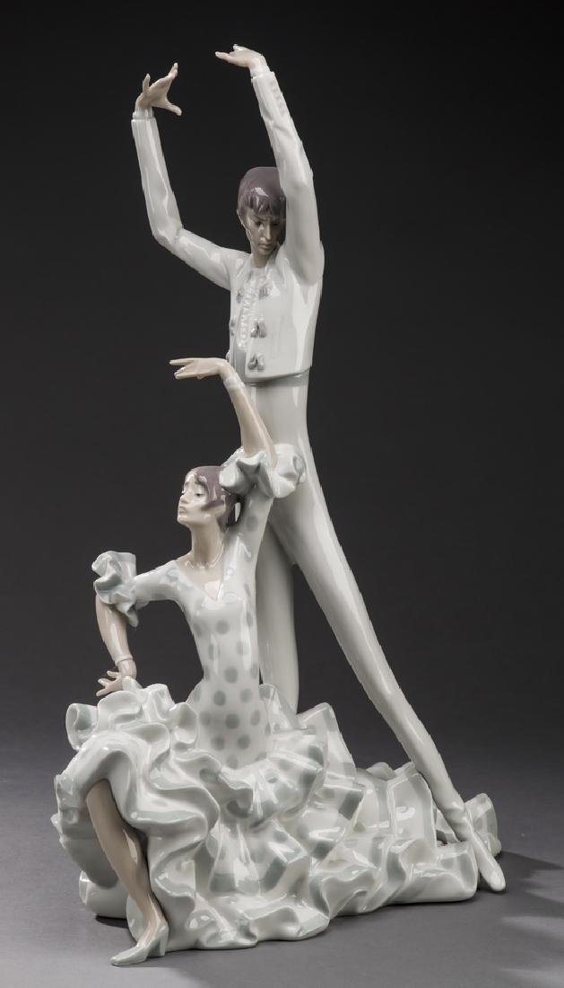 "Retired Lladro figure 'Flamenco Dancers,' 20""h"