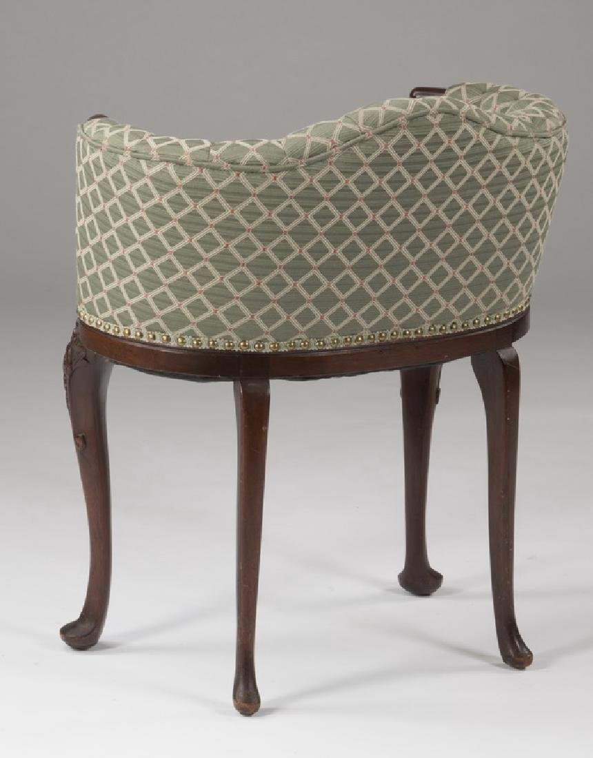 Mahogany venity chair with tufted upholstery - 2