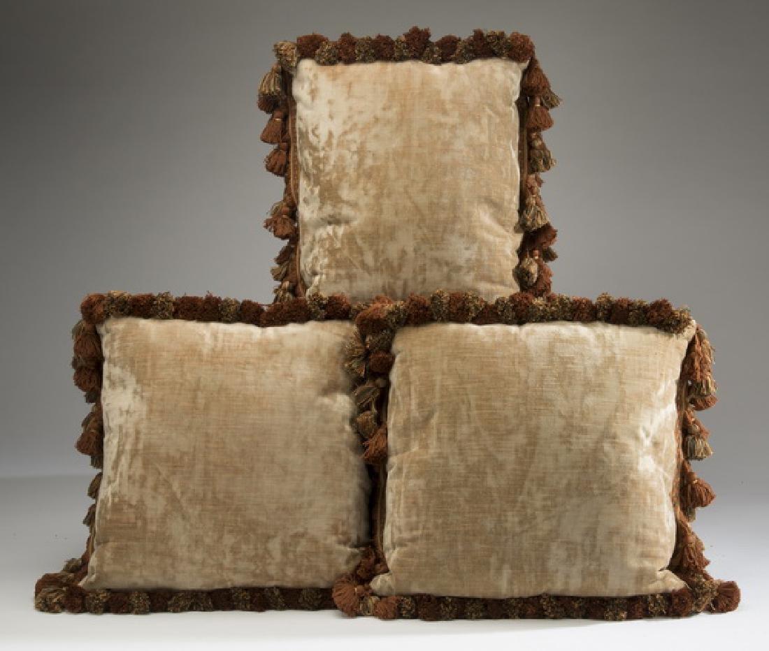 (3) Custom made Aubusson tapestry fragment pillows - 5