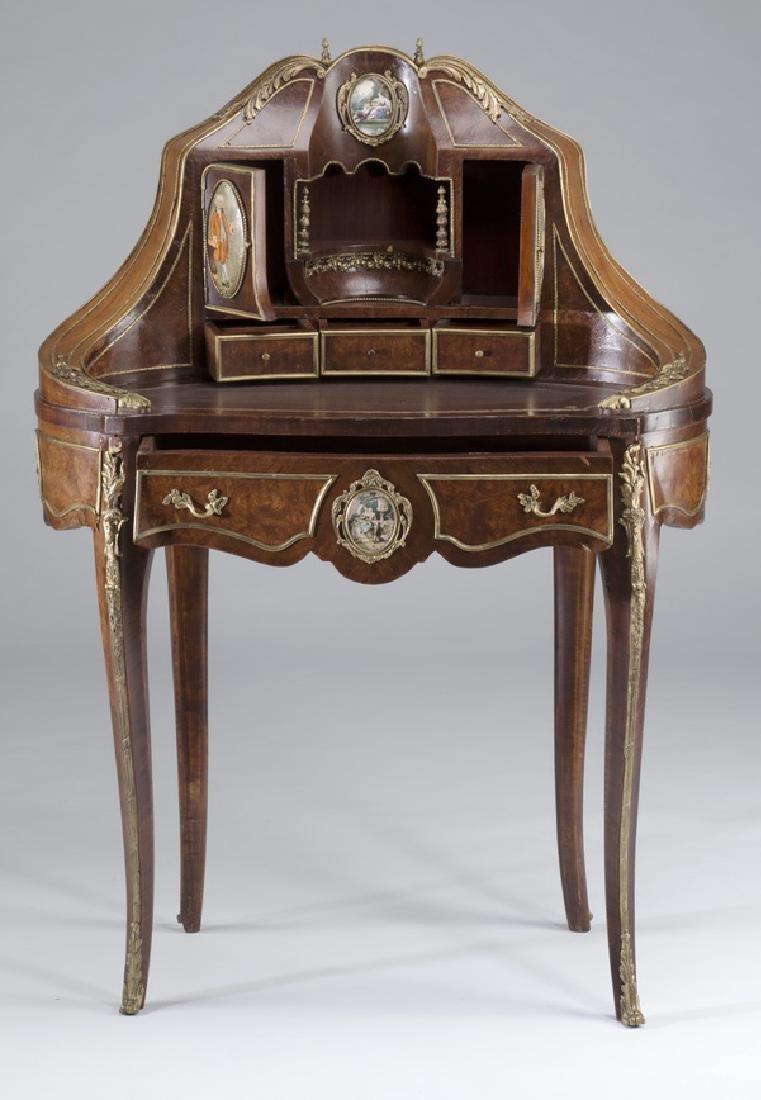 """Louis XV style marquetry bureau à rognon, 50""""h - 2"""