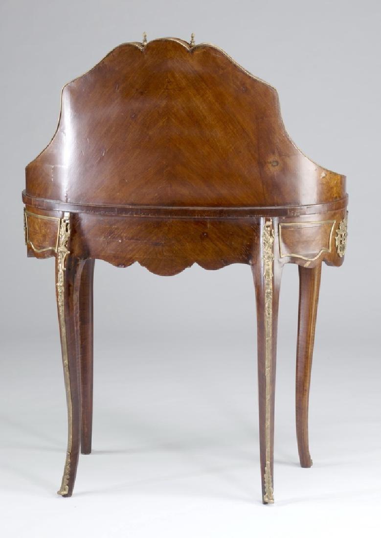"""Louis XV style marquetry bureau à rognon, 50""""h - 3"""