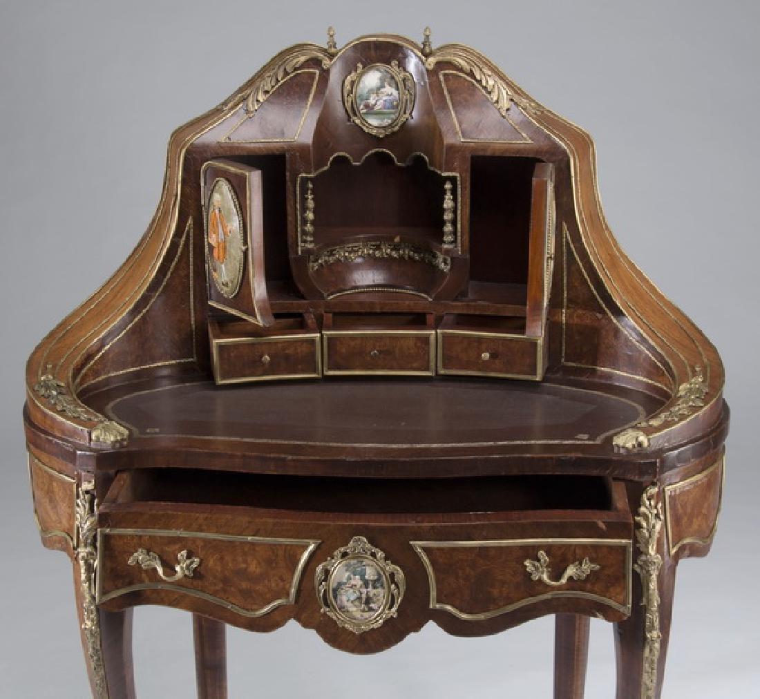 """Louis XV style marquetry bureau à rognon, 50""""h - 5"""