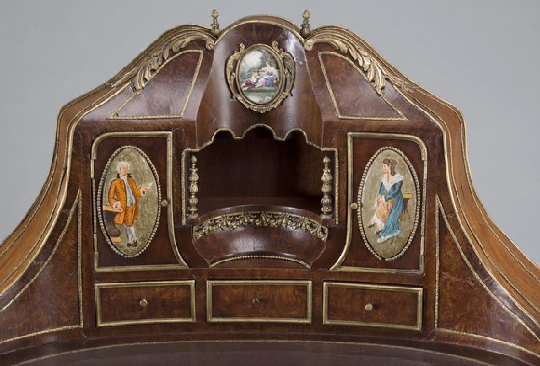 """Louis XV style marquetry bureau à rognon, 50""""h - 6"""