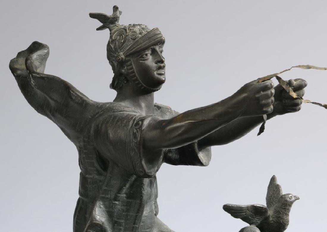 Continental bronze, Roman chariot racer w/horses - 3
