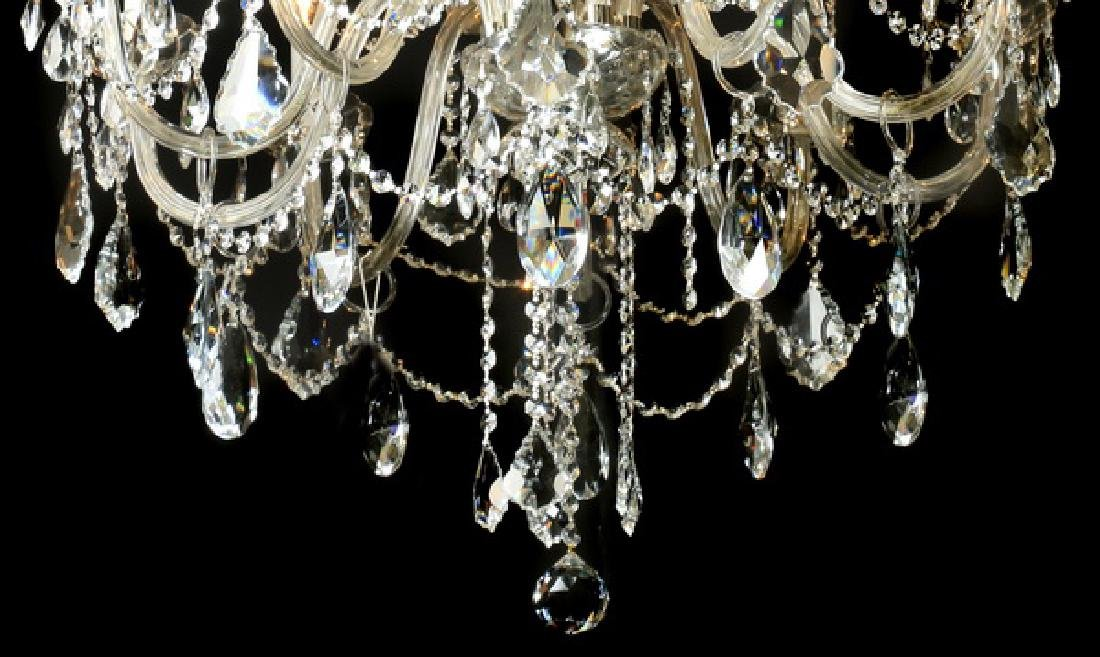 "Continental 15-light crystal chandelier, 46""h - 3"