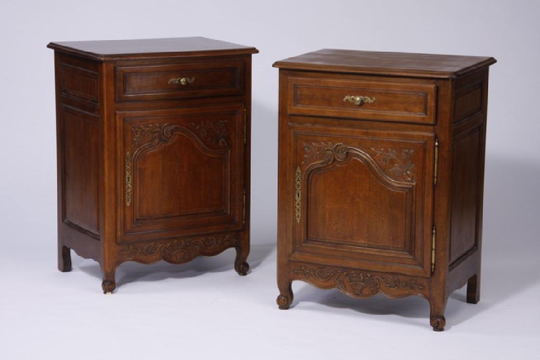 (2) French Provincial style side cabinets