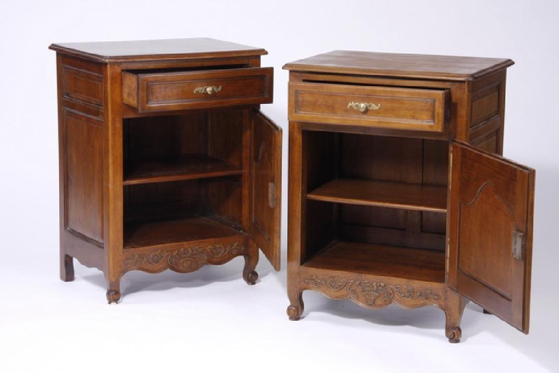 (2) French Provincial style side cabinets - 2