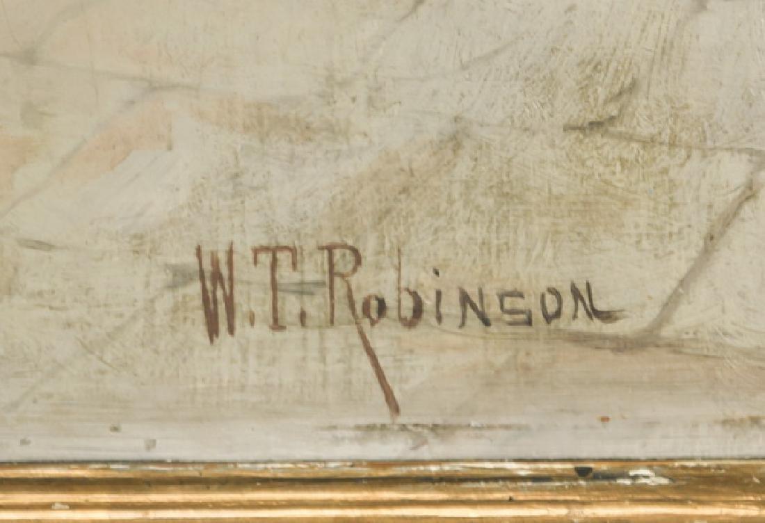 William Robinson signed, O/p village scene, 19th c. - 3