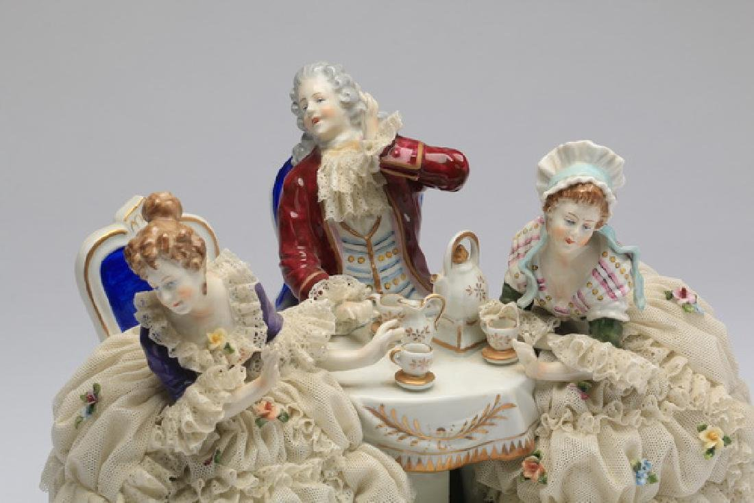 "Unter Weiss Bach porcelain group, 12""w - 2"