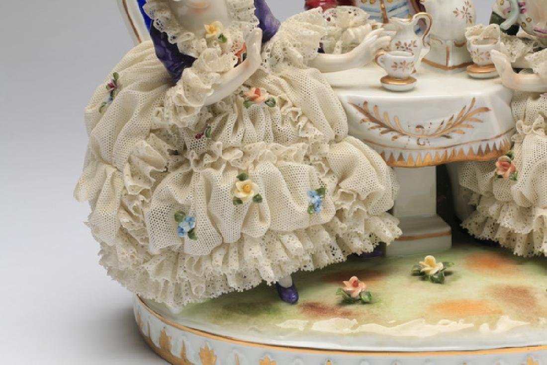 "Unter Weiss Bach porcelain group, 12""w - 3"