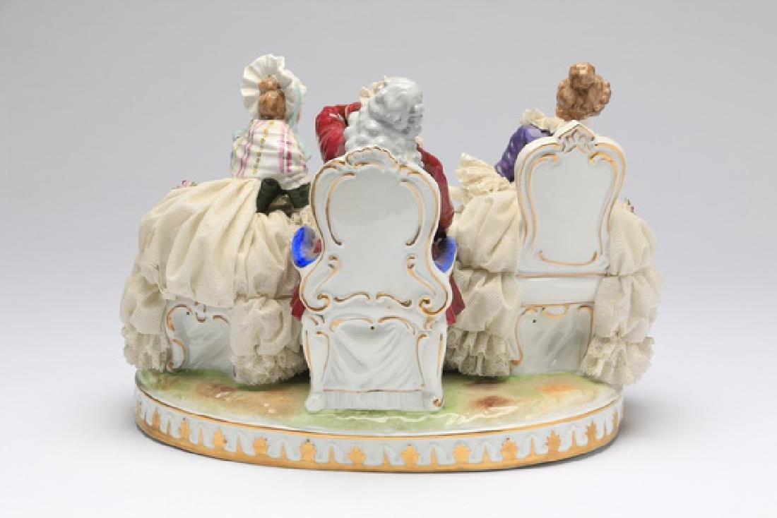 "Unter Weiss Bach porcelain group, 12""w - 4"