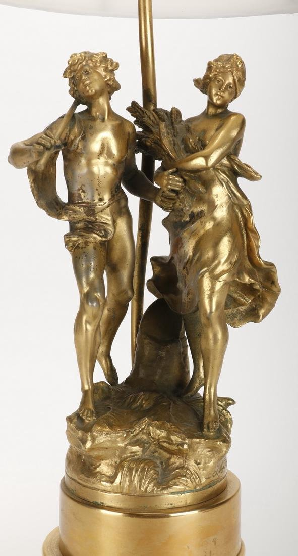 Spelter figural lamp, early 20th c. - 2