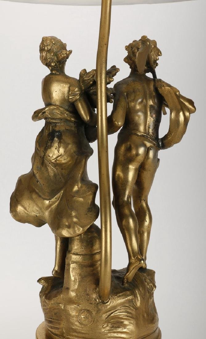 Spelter figural lamp, early 20th c. - 5