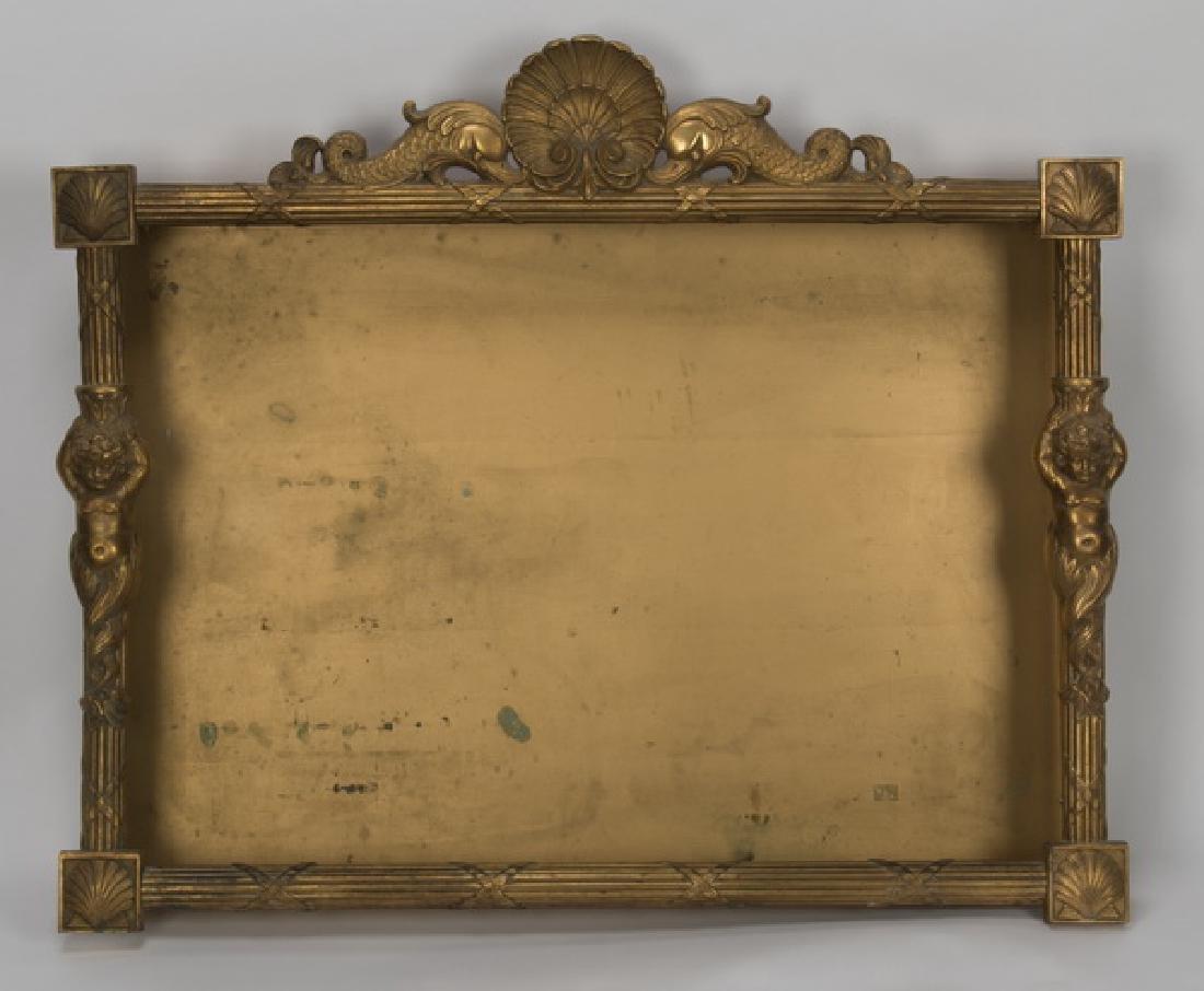 Neoclassical style gilt metal shadowbox