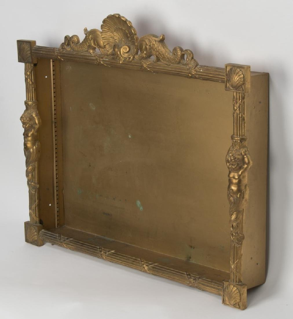 Neoclassical style gilt metal shadowbox - 3