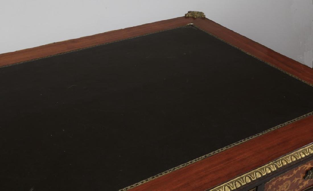 French Louis XVI style leather top desk - 5