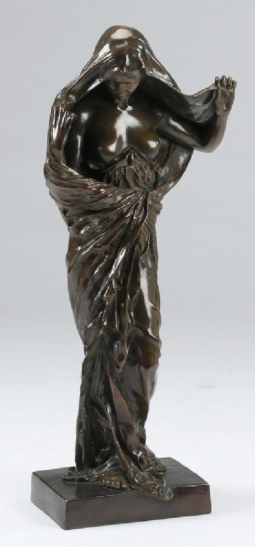 "Bronze of 'Nature Revealing Herself,' 30""h"
