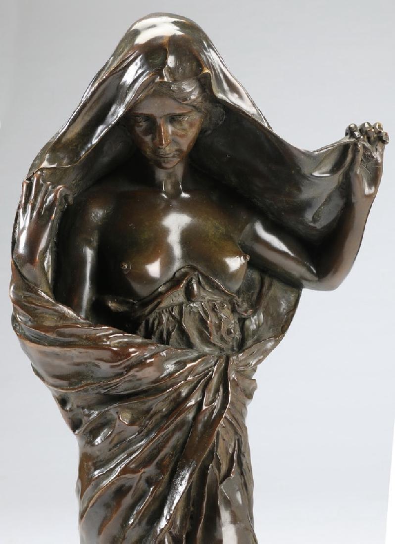 "Bronze of 'Nature Revealing Herself,' 30""h - 2"