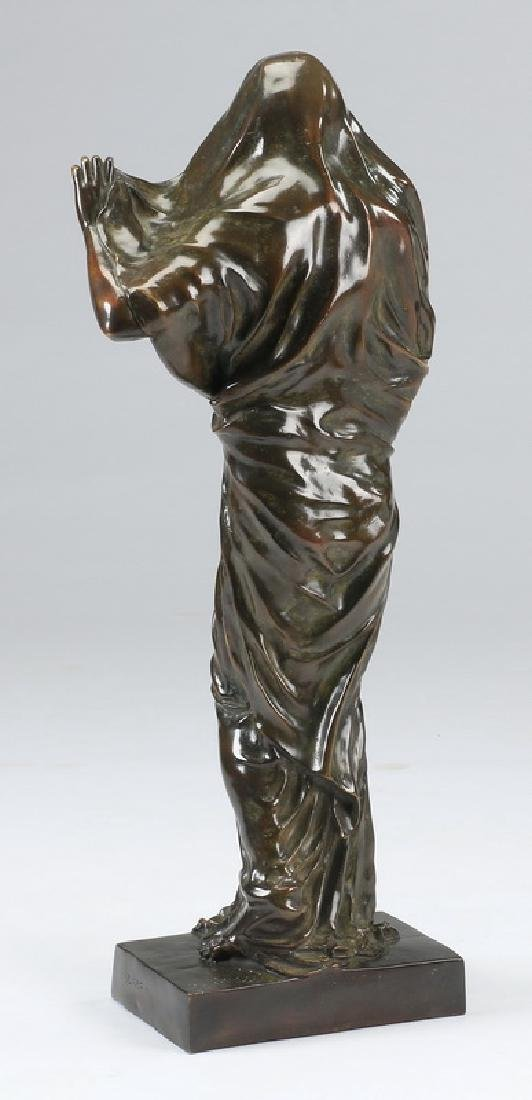 "Bronze of 'Nature Revealing Herself,' 30""h - 3"