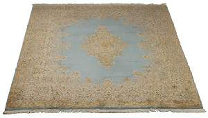 Early 20th chand knotted Persian Kerman rug 14 x 10