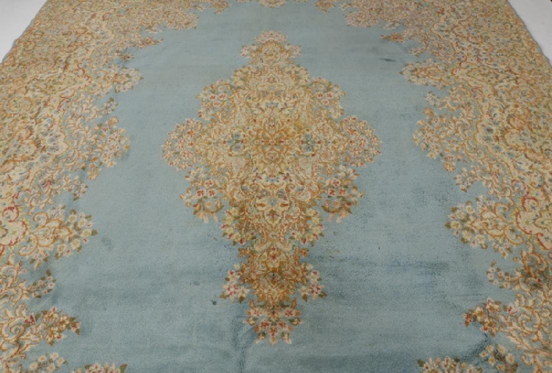 Early 20th c.hand knotted Persian Kerman rug, 14 x 10 - 2