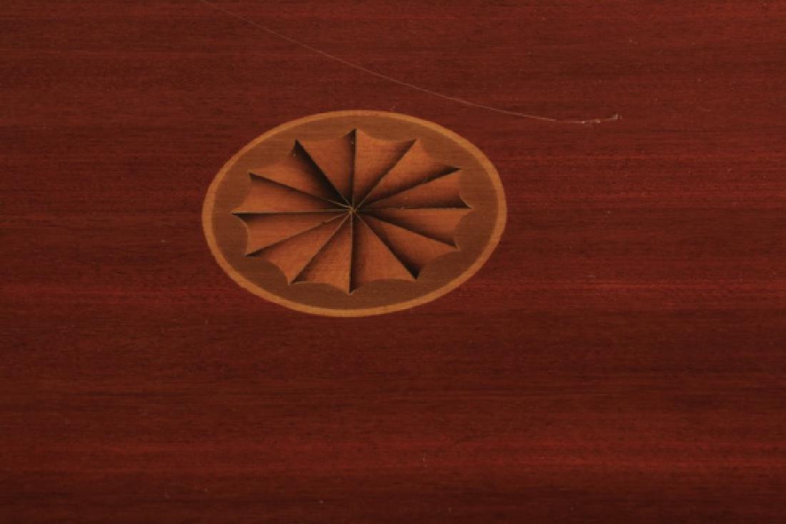 Revolving mahogany inlaid book stand - 3