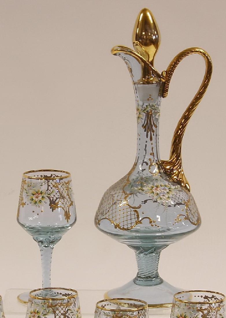(6) Piece Moser-style decanter set - 2
