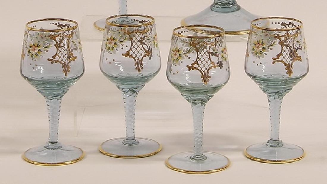 (6) Piece Moser-style decanter set - 3