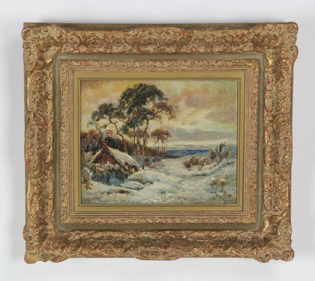 "Jos. Sloman O/artist board landscape, 14""h"