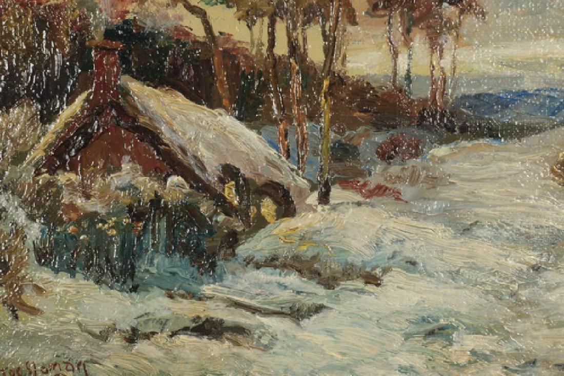 "Jos. Sloman O/artist board landscape, 14""h - 2"
