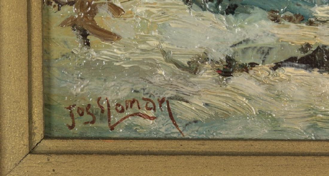 "Jos. Sloman O/artist board landscape, 14""h - 3"