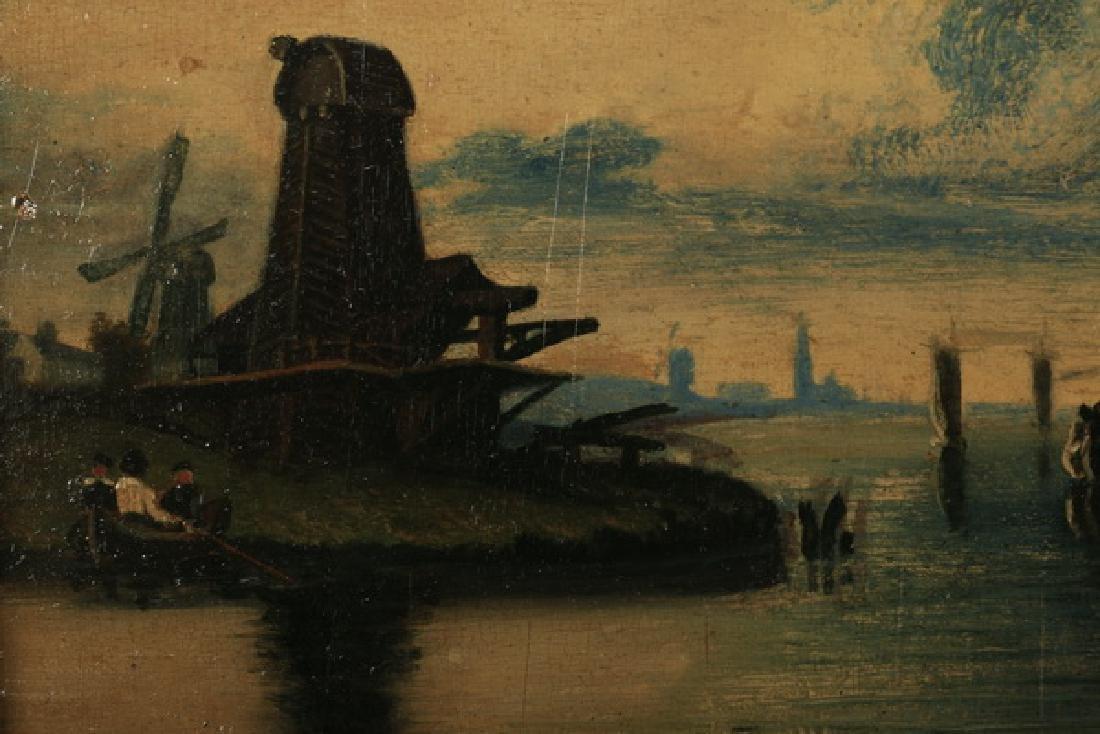 19th c. Dutch O/b coastal scene w/ gallery label - 3