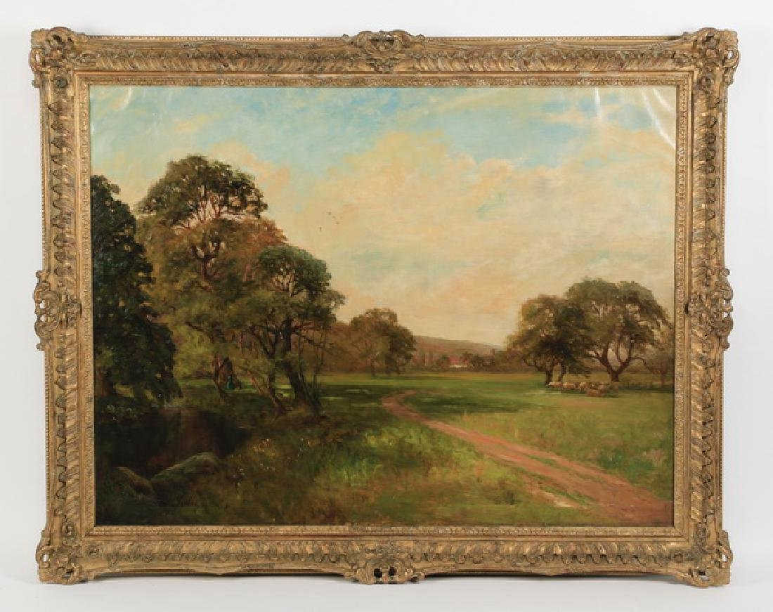 "Willy Fenton (British) signed O/c, 19th c., 53""w"