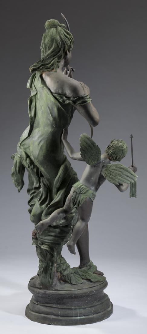 "Bronze sculpture of Venus disarming Cupid, 66""h - 5"