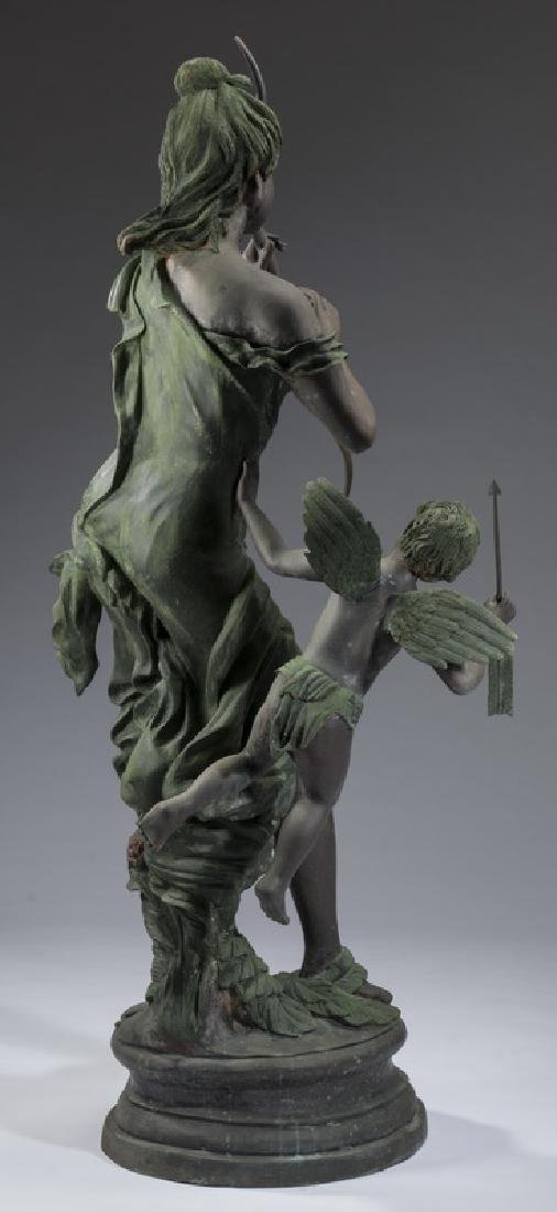 "Bronze sculpture of Venus disarming Cupid, 66""h - 6"