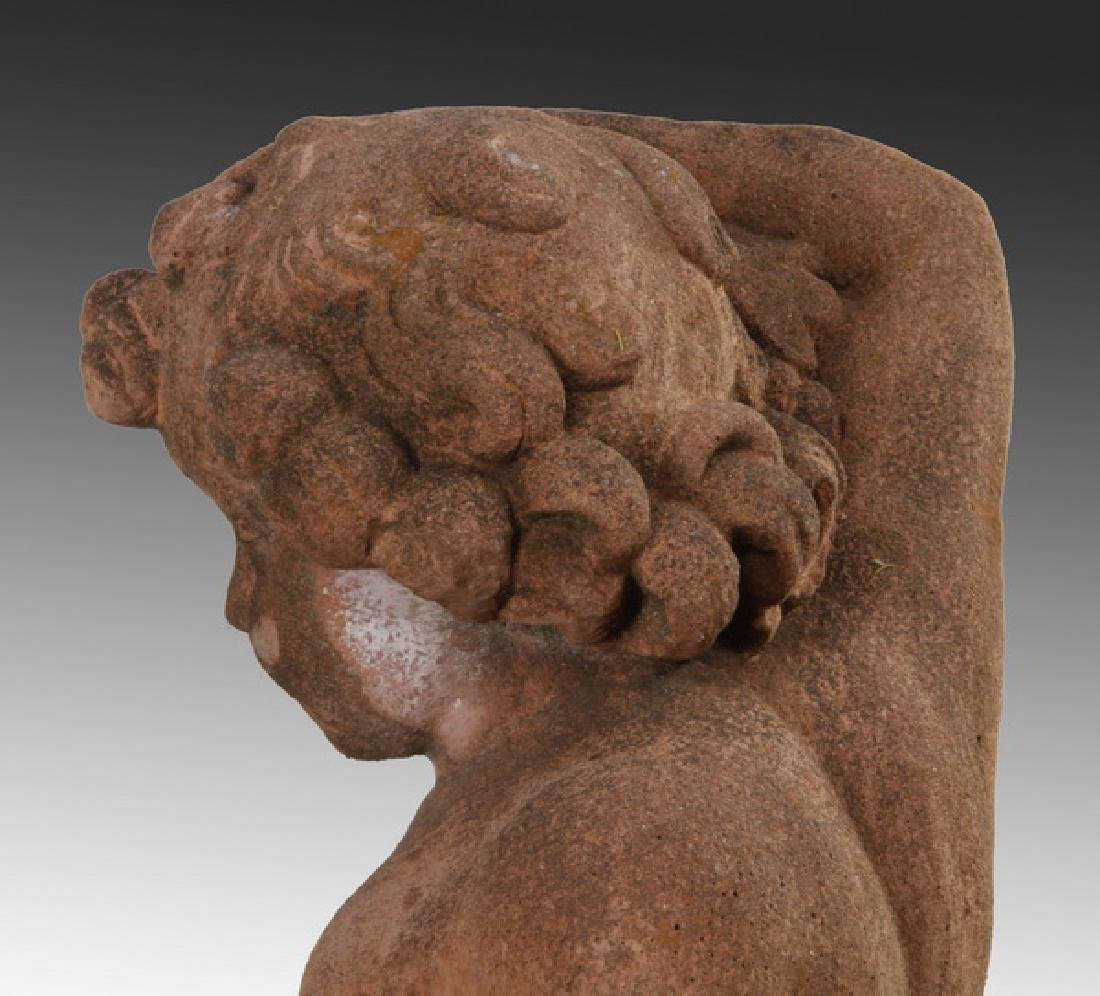 "(2) Italian cast stone putti sculptures, 36""h - 7"