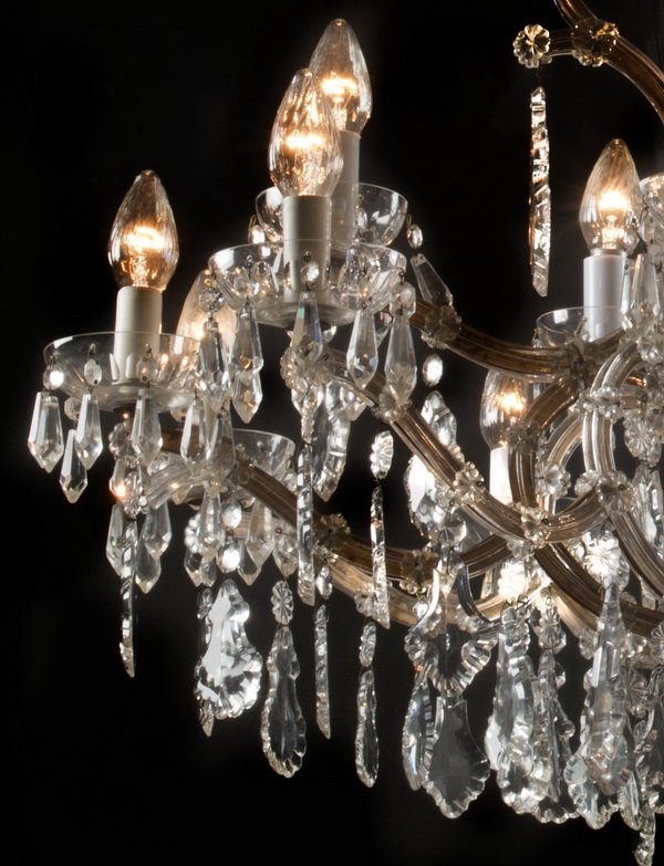 "Marie-Therese style 15-arm crystal chandelier, 36""h - 2"