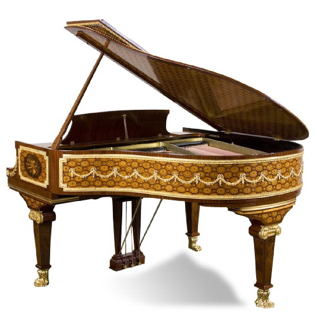 Steinway & Sons marquetry inlaid grand piano - 2