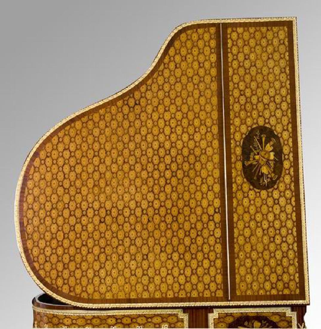 Steinway & Sons marquetry inlaid grand piano - 3